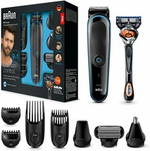Braun MGK3085 9 On 1 Trimmer Hair Beard Body And Gillette Fusion5 Proglide - $329.75
