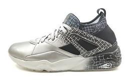 PUMA Blaze Of Glory Sock Silver Black Lifestyle Trinomic Shoes Sneakers ... - $67.89