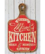 Mom's Kitchen Breadboard Sign, Red Wall Decor - $29.99