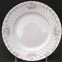 Vintage GST1 by Gold Standard PORCELAIN CHINA Pink Flower Salad Plate - $10.88
