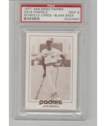 1977 San Diego Padres Dave Winfield Schedule Card Blank Back PSA 9 - POP 3 - $21.60