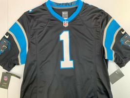 $100 NWT SIZE LARGE MEN Nike Carolina Panther Cam Newton #1 Black Jersey... - $29.69