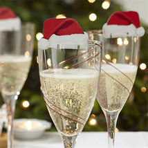 Christmas Decorations For Home Table Place Cards  Wine Glass Decoration  - $8.88