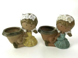 Counterpoint San Francisco Pottery Lot of 2 Small Girl Planter vase Vtg ... - $19.79