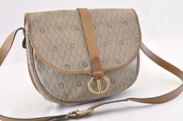 Christian Dior Shoulder Bag Brown PVC Leather Auth ar668 - $210.00