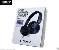 SONY MDR-ZX110NC NOISE CANCELLING HEADPHONES - BLACK (#7335) - $13.99
