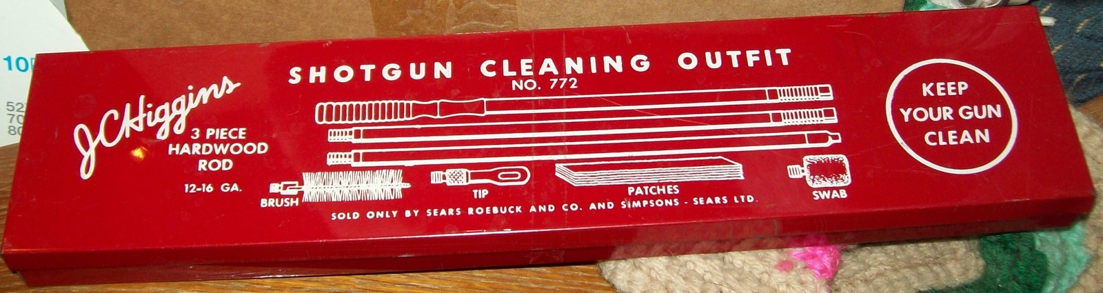 Vintage J C Higgins Shotgun Cleaning Kit 772 and 50 similar items