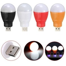 2 Pack - Reading Portable 5W USB LED Ball Desk Light Lamp Bulb - Random - $7.12