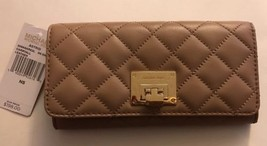 MICHAEL KORS ASTRID QUILTED LARGE CARRYALL CLUTCH WALLET In DK Khaki 35S... - $78.36