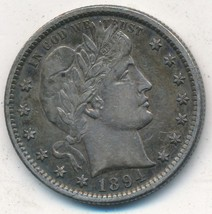 1894-S BARBER SILVER QUARTER-SEMI KEY DATE-EXCELLENT LIGHTLY CIRCULATED-... - $199.95