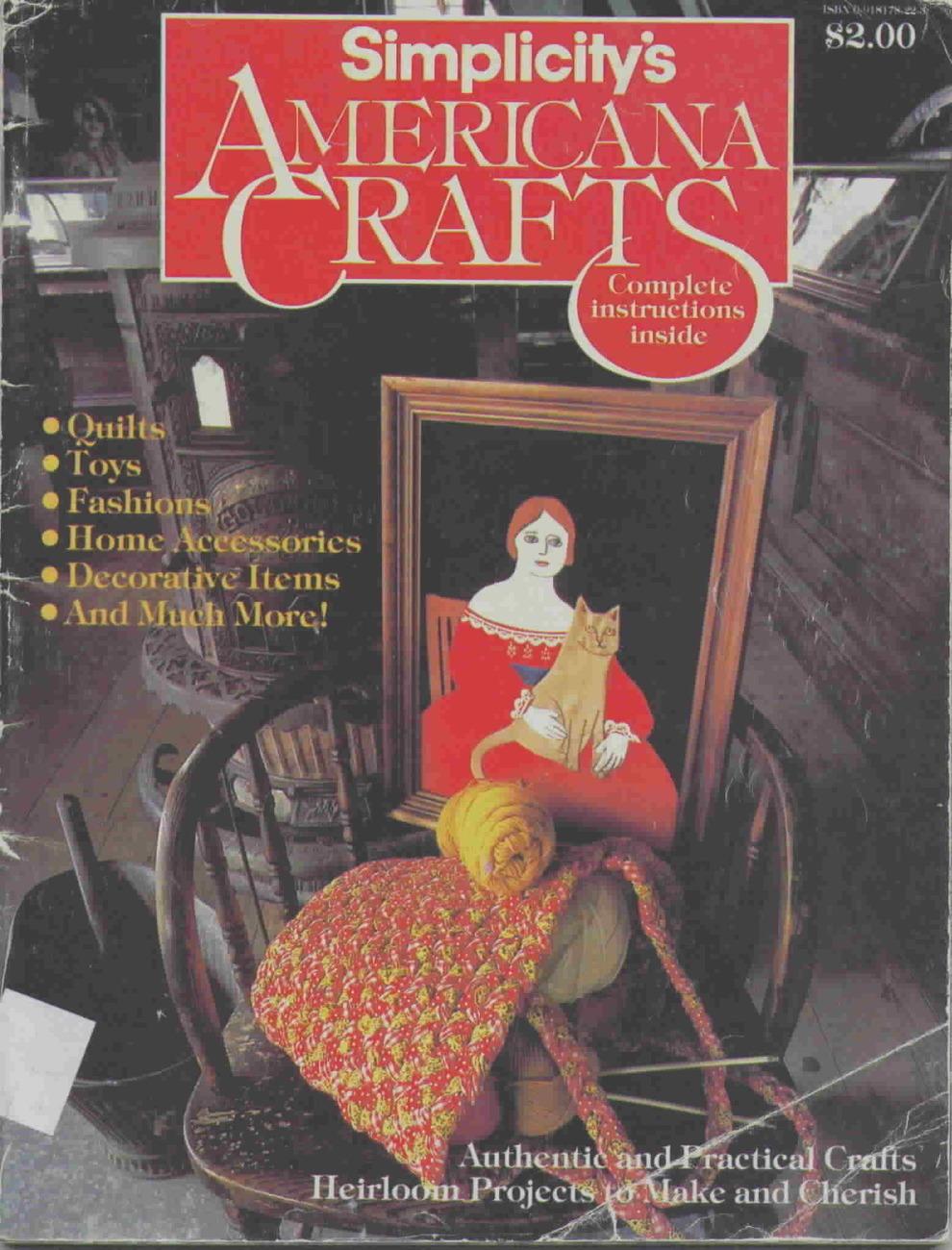Vintage simplicitys americana crafts