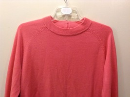 Pretty White Stag Big Plain Pink Long Sleeve Sweater image 2