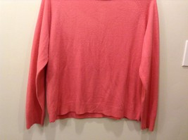 Pretty White Stag Big Plain Pink Long Sleeve Sweater image 3