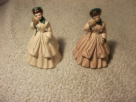 2 Vintage Florence Ceramics Statue With Gold Trimming - $60.76