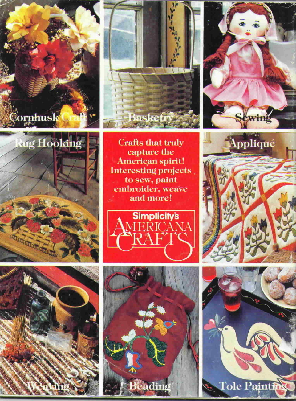 Vintage Simplicity's Americana Crafts Authenic and Practical Crafts
