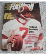 1983 STREET AND SMITH'S PRO FOOTBALL YEARBOOK MAGAZINE-JOE THEISMANN-RED... - $12.61