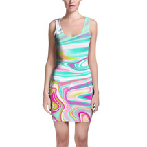 Rainbow Marble Bodycon Dress - $32.99+