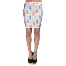 Watercolor Jelly Fish Bodycon Skirt - $26.99+