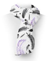 Boho Watercolor Feathers Purple Fleece Scarf - ₨2,236.55 INR+