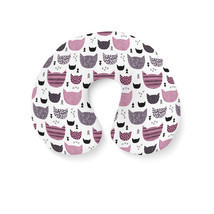 Inky Texture Cats Travel Neck Pillow - $18.99