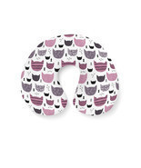 Inky Texture Cats Travel Neck Pillow - €16,77 EUR