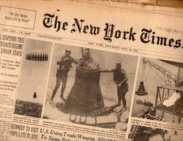 The New York Times Newspaper May 18,1963 - $6.95
