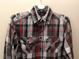 Beverly Hills Polo Club Plaid Long Sleeve Button Up Collared Shirt Size M image 3