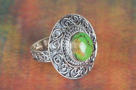 Fantastic Green Turquoise Gemstone Sterling Sil... - $19.99 - $21.99
