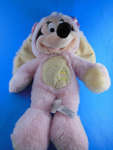 "Easter Bunny Minnie Mouse Plush Doll 12"" Disney Store Super Soft Excellent - $11.08"