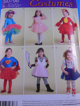 SIMPLICITY 0796 Girls' COSTUMES Tulle skirt Tutu Leggings Sz 1/2 1 2 3 4... - $6.72