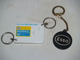 Pair of 2 Esso Oil Keychains Key Club Drop in any mailbox - and Split Hy... - $9.79