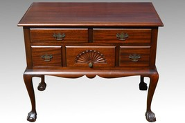 18109 Antique Mahogany Chippendale Ball and Claw Lowboy Chest Dresser - $399.00