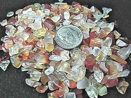 Gemstone Embellishment Natural Carnelian Small UNDRILLED Chips 50g (1.75... - $2.83