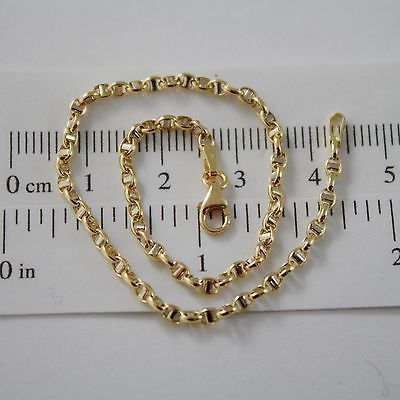 18K YELLOW WHITE GOLD BRACELET, OVAL NAVY MESH, 7.50 INCHES LONG, MADE IN ITALY