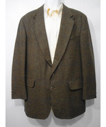 Banana Republic Mens Large Green Herringbone Plaid Lambswool Sport Coat ... - $54.15