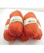 Columbia Minerva Carrot Orange 4-Ply Worsted Wool Yarn 5 Balls 4 oz NEW ... - $39.11