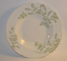 J & C Meakin Mabel Soup Bowl Hanley England Semi-Porcelain Green leaves - $2.95