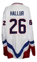 Custom Name # Team Iceland Hallur New Men Sewn Hockey Jersey White Any Size image 4