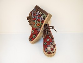 kilim boots,rug bosts, Leather boots,boots,men's boots,Ankle Boots,wool boots - $229.00