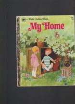My Home Little Golden Book #115 Renee Bartkowski 3rd Print ROFry - $12.05