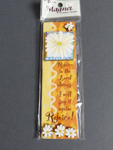 Qulity Artwork Magnet Rejoice Floral prayer - $9.90