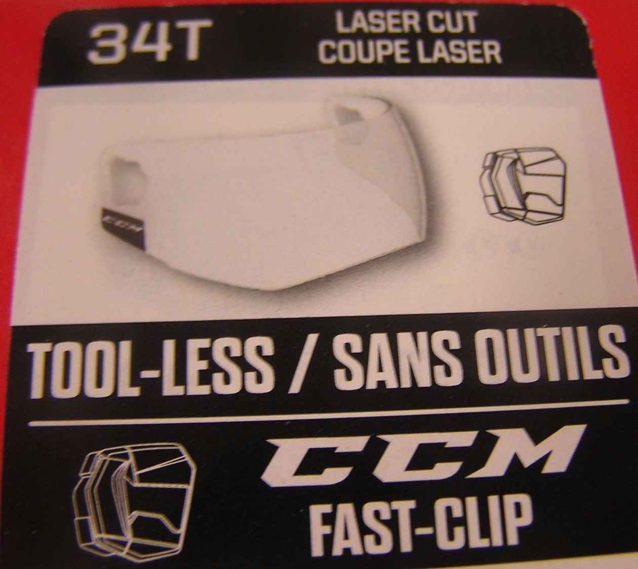 Primary image for CCM Revision VR34T Fast Clip Tool-less Visor - Clear