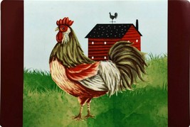 Set of 4 Kitchen Vinyl NON CLEAR Placemats, ROOSTER & THE FARM HOUSE, GR - $17.81