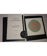 Ishihara Test Book Plates with EYE OCCLUDER For Color Blindness Eye Testing - $41.13