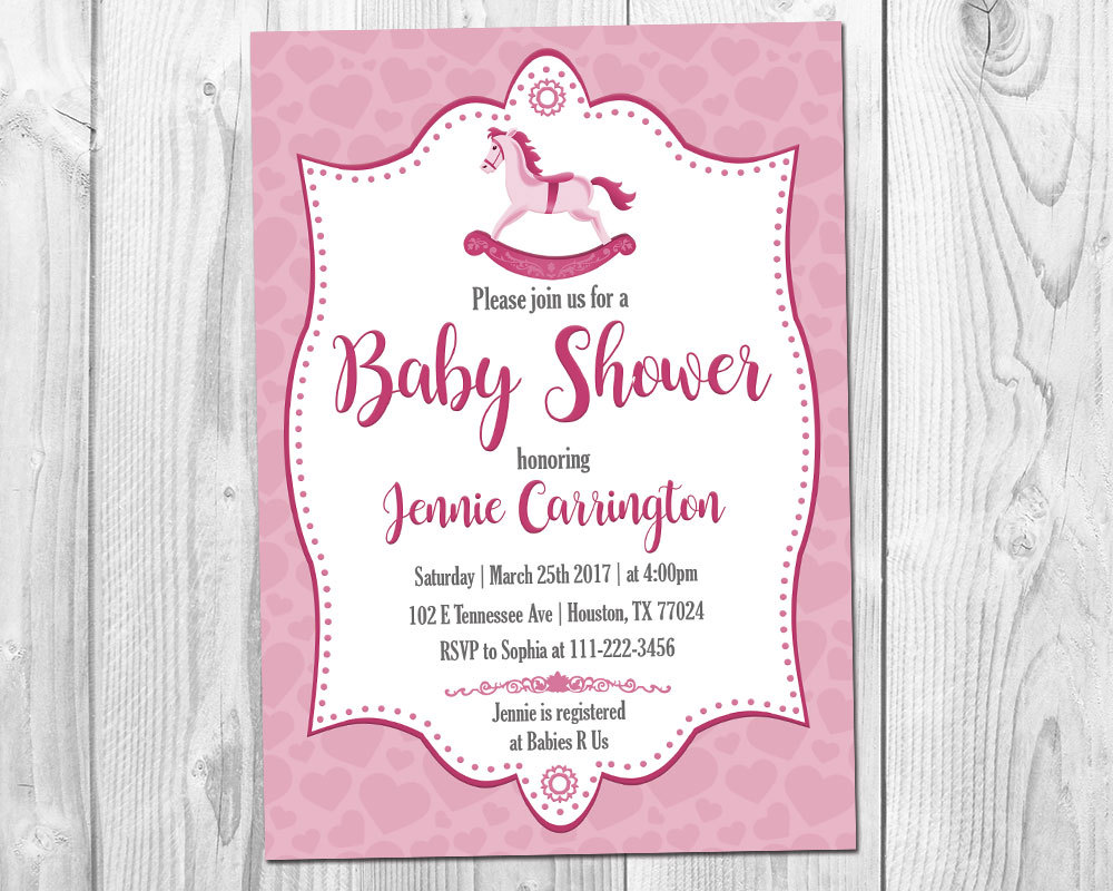 Rocking Horse Baby Shower Invitation / Baby and 50 similar items