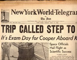 New York World Telegram  & The Sun  Newspaper -May 17, 1963 - $4.90