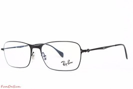 Ray Ban Eyeglasses RB6253 2760 Black Rectangle Frame 54mm Authentic - $72.75