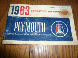 1963 Plymouth Operating Manual Guide - Vintage - Glove Box - $12.59