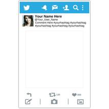 Social Media Selfie Frame Photo Booth Prop Poster - $16.34+
