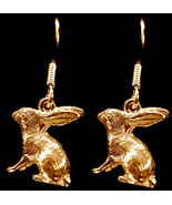 24kt gold plated over solid sterling silver cute Bunny Rabbit Earrings j... - $29.69